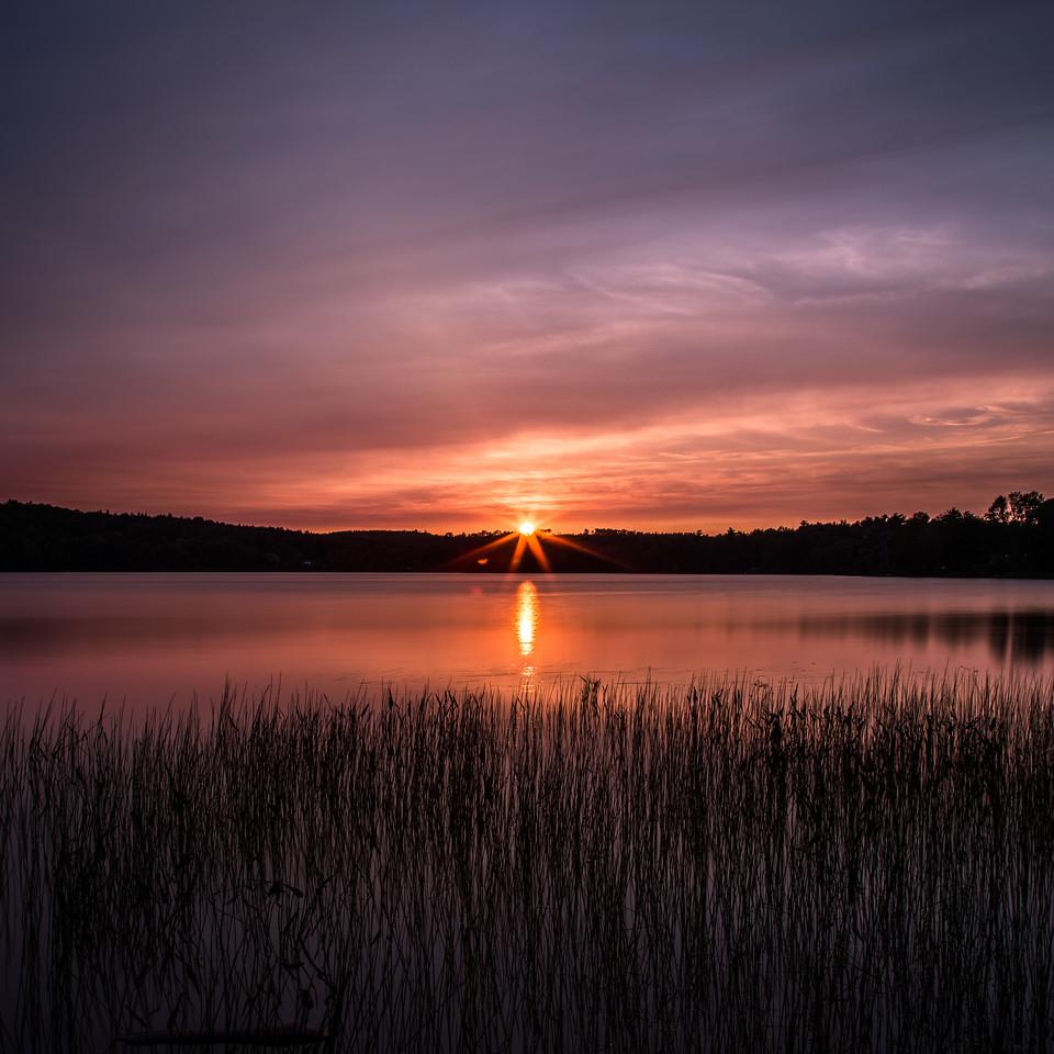 Sunset at Tucker Lake Nova Scotia