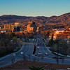 Downtown Boise and the State Capitol Building at Sunset