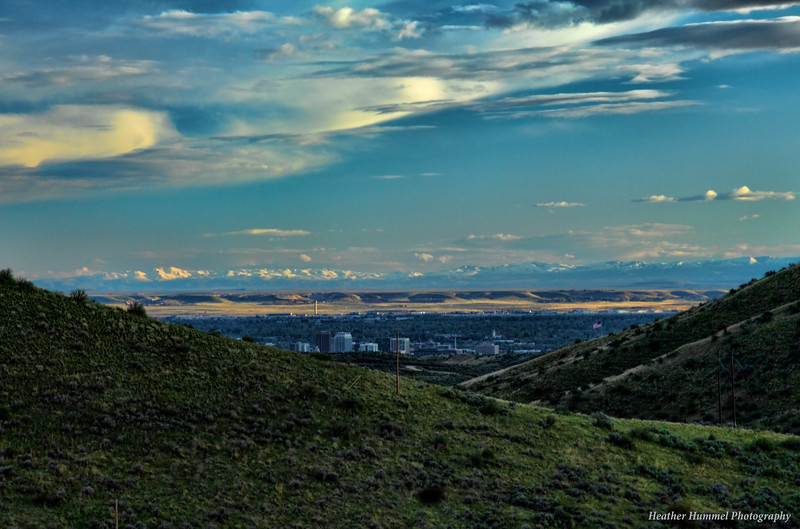 Downtown Boise from the Rocky Mountain Foothills