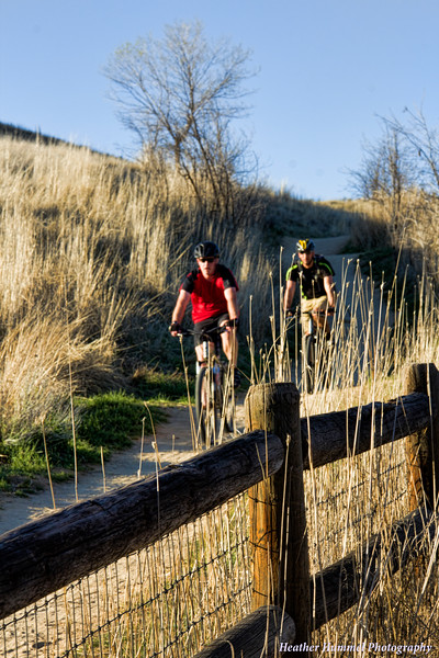 Mountain Bikers on Camel's Back Trail, Boise, ID