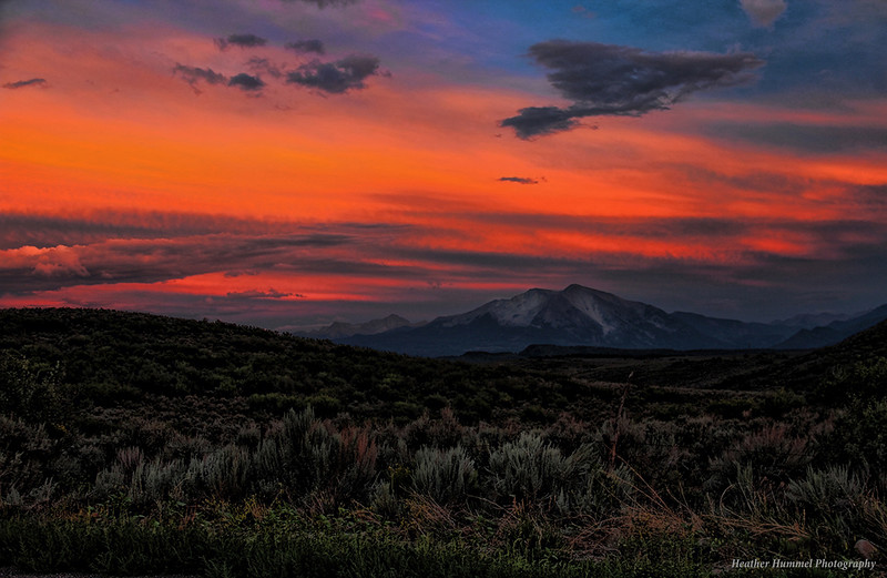 Mt. Sopris Sunset Splash