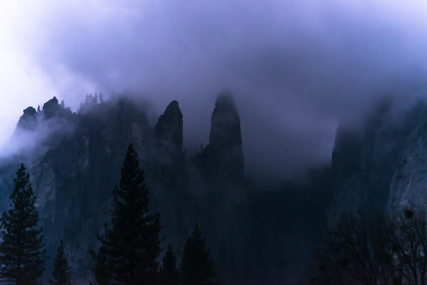 Misty morning in Yosemite