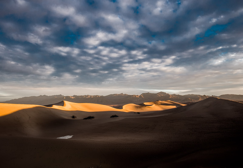 Dawn at Mesquite Dunes-Death Valley