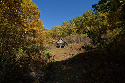 Caudill cabin at head of Basin Creek