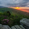 June sunset on Roan Mountain