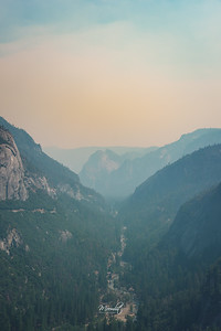 Hazy Yosemite Valley