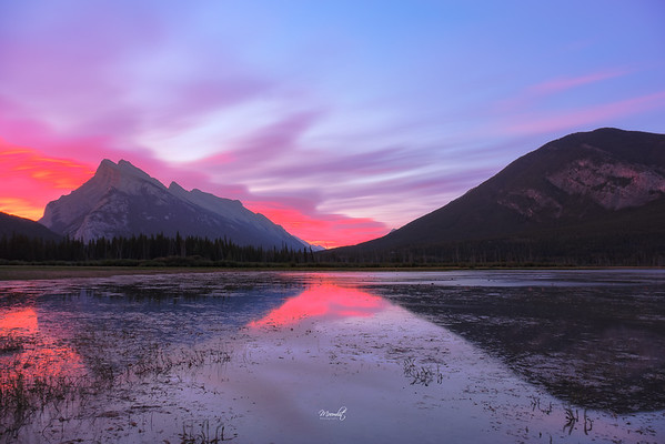 Sunrise at Vermilion Lakes
