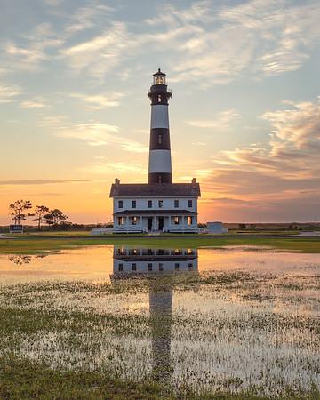 Bodie Island Lighthouse at sunrise