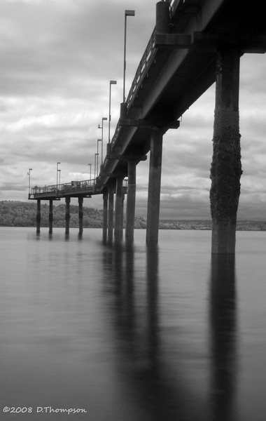 More infrared... Des Moines Pier at Low Tide