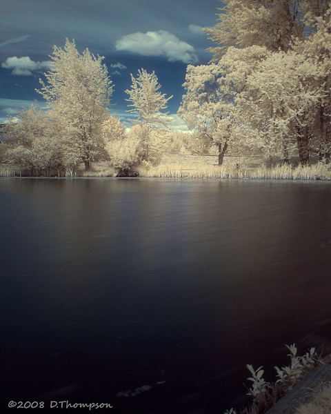 Playing around with infrared at the Old Fishing Hole.