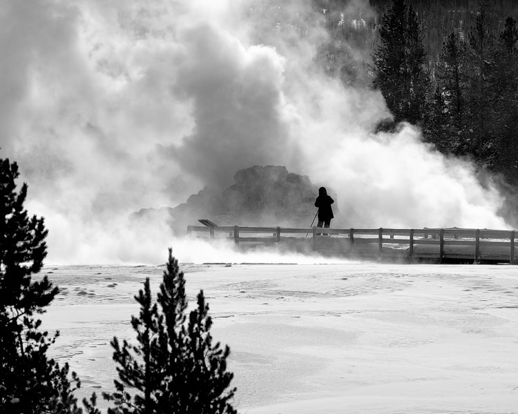 """The Photographer"", Castle Geyser, Upper Geyser Basin"