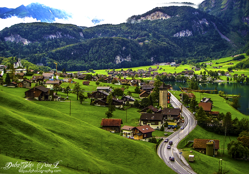 Interlaken after passing Lake Brienz - Switzerland