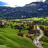 Interlaken after passing Lake Brienz - Switzerland