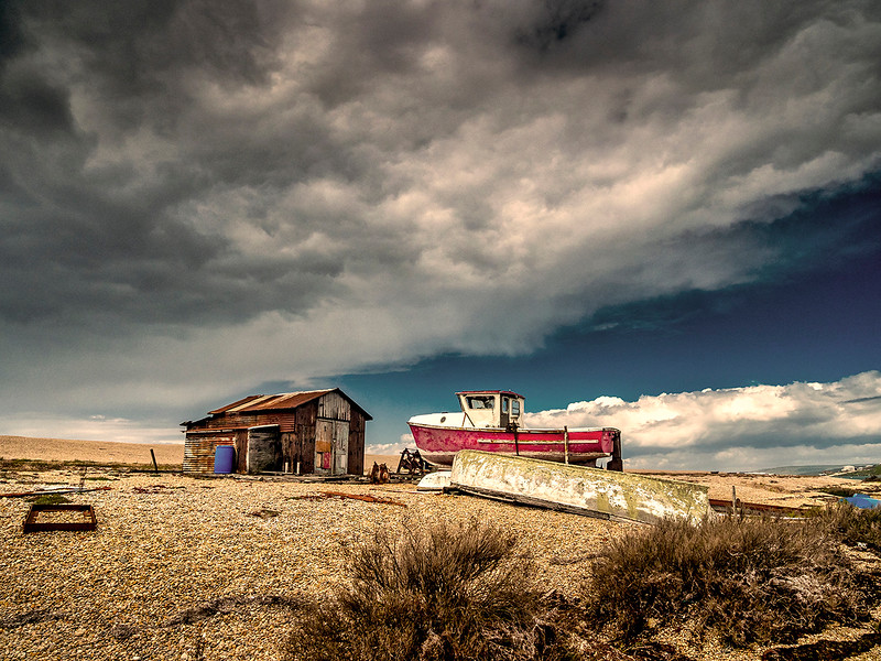 Section B - Print - Highly Commended - Chesil Sky by Graham Herbert