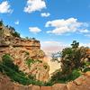 Hiking through South Kaibab Trail (South Rim) in Grand Canyon National Park, Arizona - USA