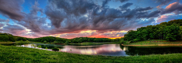 Sunset panorama - Lone Elk Park St. Louis