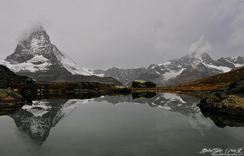 Matterhorn mirrored on Riffelsee way to Gornergrat - Zermatt, Switzerland