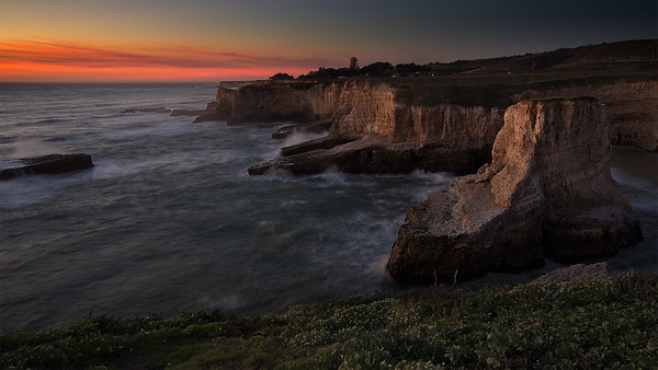 Shark Fin Cove Sunset