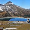 Breathtaking Swiss Lake - Way down from Jungfrau in Cog Wheel train ....
