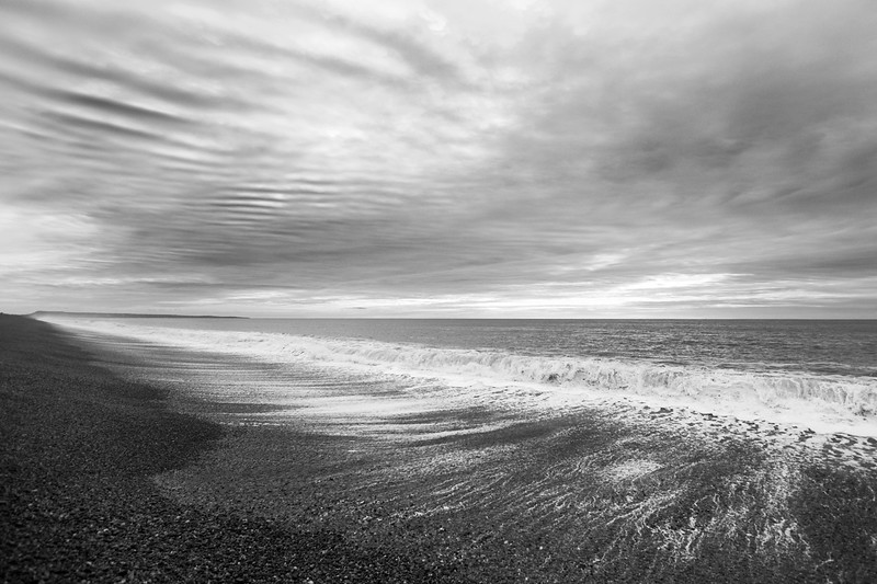 Section A - Print - Highly Commended - Receding Tide, Chesil Beach by Charlie Wheeler