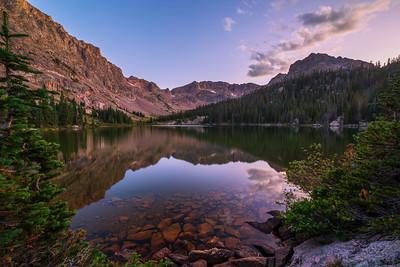 Upper Boulder Lake Sunset