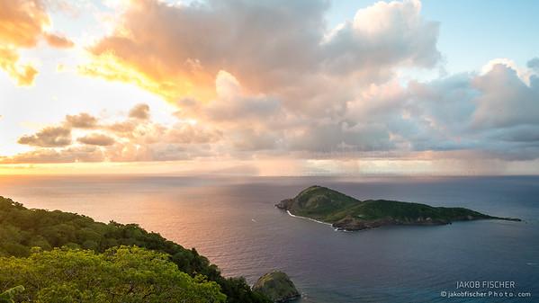 Island of the Saints during sunrise, Guadeloupe