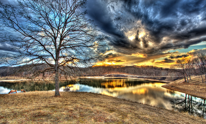 Lone Elk Park Sunset HDR