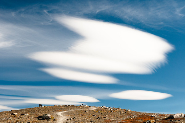 Cloud formation.  Jasper National Park, Alberta, Canada.