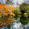 Picturesque Gibbs Gardens fall time - Georgia, USA