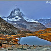 Matterhorn and Lake Riffelsee - Gornergrat, Switzerland