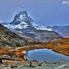 Matterhorn and Lake Riffelsee - Gornergrat, Switzerland