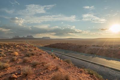 Desert sun rays