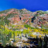 Colorful Aspen Mountain in a dazzling Autumn weather - Aspen,Colorado - USA