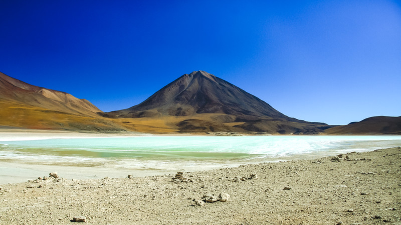 Laguna Verde at Volcan Licancabur Base