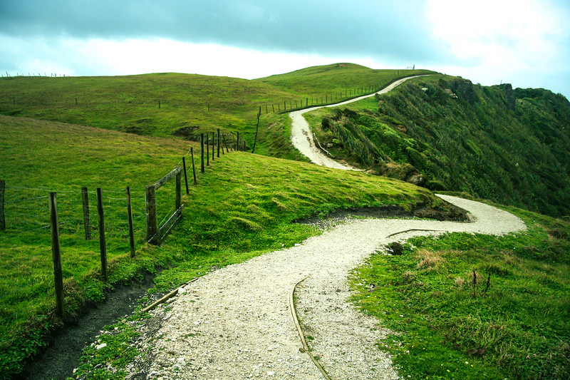 Pathway through Green Hills