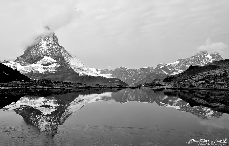 Matterhorn mirrored on Riffelsee way to Gornergrat - Zermatt, Switzerland