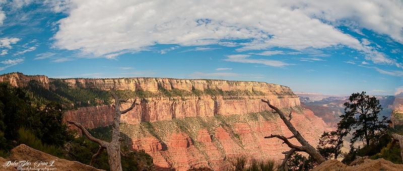 Grand Canyon South Rim across hiking route South Kaibab Trail - Arizona, USA