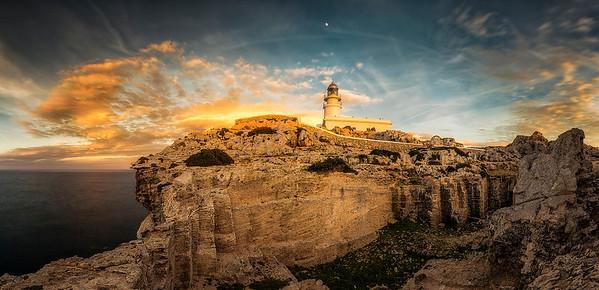 Cavalleria Lighthouse. Sunset