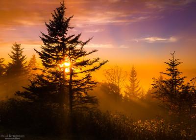 Sunset on the Blue Ridge Parkway