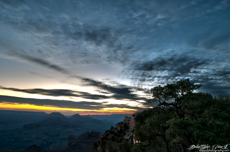 Sunrise over Grand Canyon South Rim, Arizona - USA