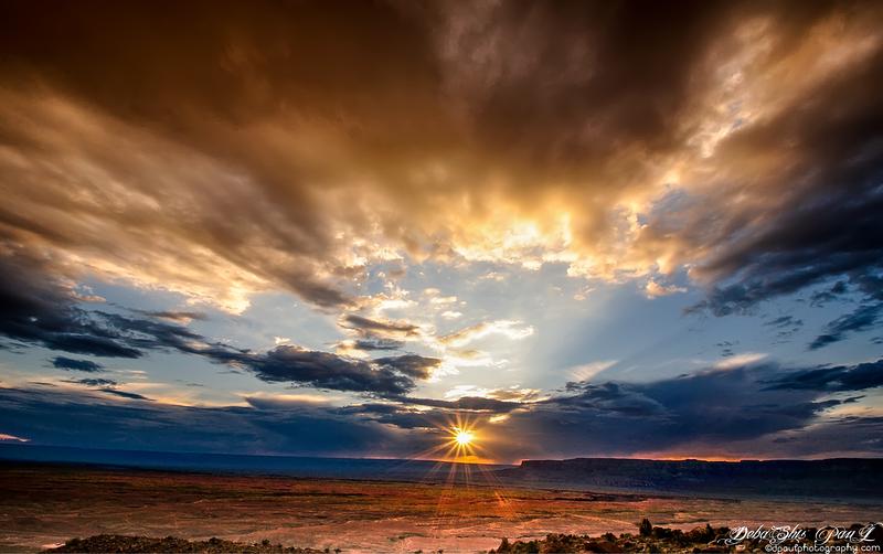 Sunset over Grand Canyon North Rim - Way back from South Rim - Arizona, Phoenix - USA