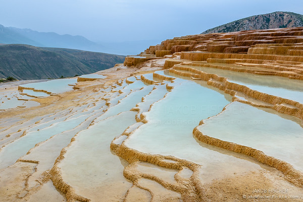 Badab-e Surt travertine terrace