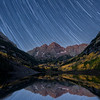 Maroon Bells Fall Star Trails