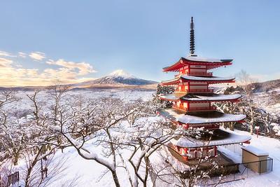 Winter Charm of Chureito | Japan