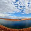 Lake Powell - The reservoir on the Colorado River, straddling the border between Utah and Arizona overlooking Rainbow Bridge - Arizona, USA