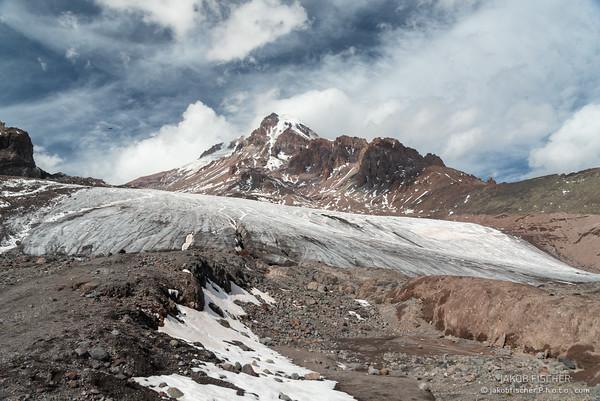 Glacier of Mount Kazbegi