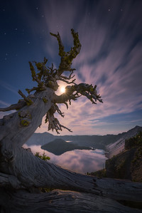 Moonlight at Crater Lake