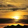 Sunrise in the way to Gornergrat, Switzerland