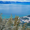 Serene and speechless beauty of Lake Tahoe from Top of Heavenly Gondola  ...