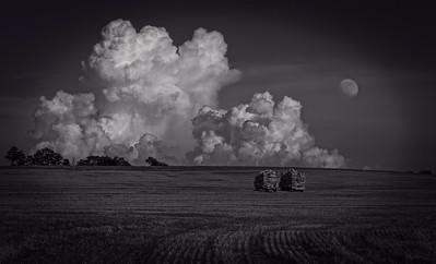 Harvest Day [Moonrise, Storm, Ijamsville, MD]